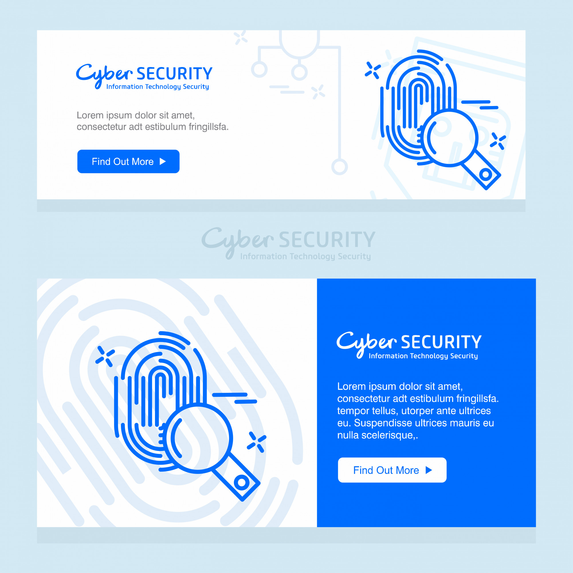Cyber security design template vector