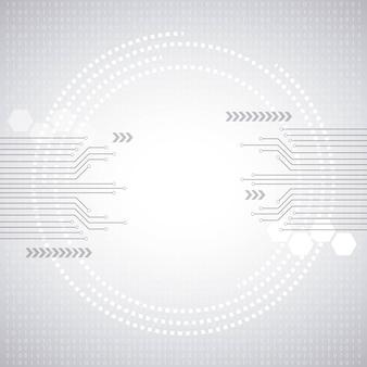 サイバーセキュリティデジタル回路番号の保護は、白い背景を保存