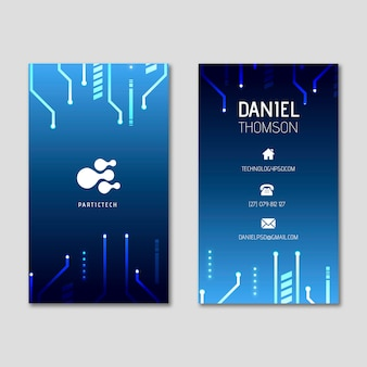 Cyber security double-sided businesscard v