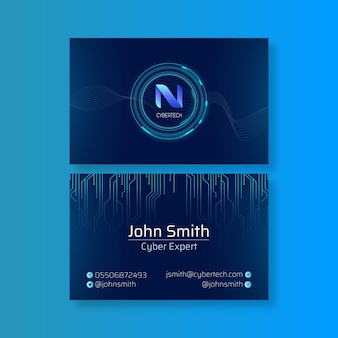 Cyber security horizontal business card