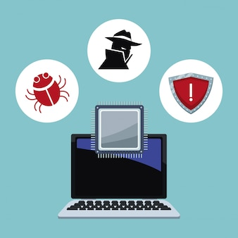 Cyber security icons