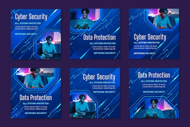 Post di instagram sulla sicurezza informatica