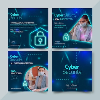 Сообщения в instagram о кибербезопасности