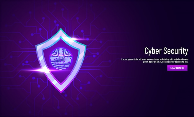 Cyber security landing page design