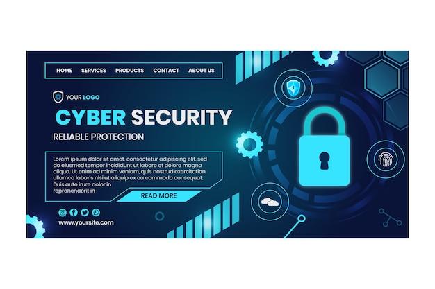 사이버 보안 랜딩 페이지 템플릿