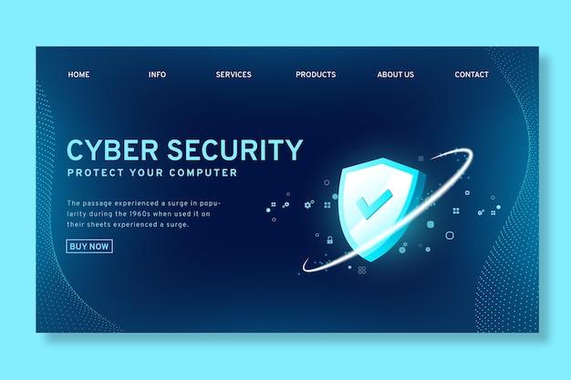 사이버 보안 랜딩 페이지