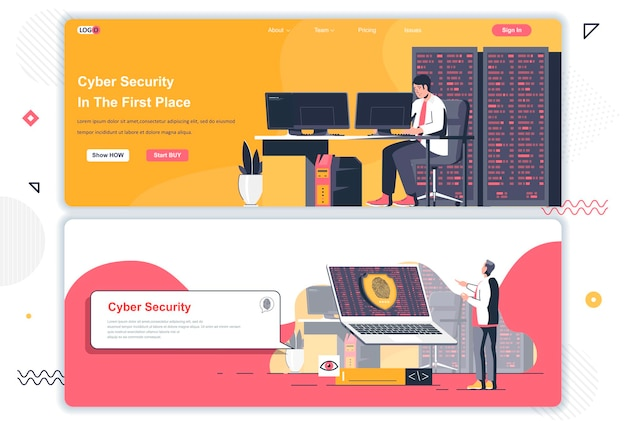 Cyber security landing pages
