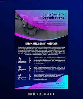 Cyber security organization flyer template eyecatching flyer to promote a safe and security