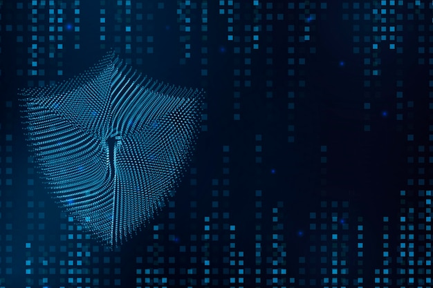 Концепция иллюстрации замка кибер-безопасности