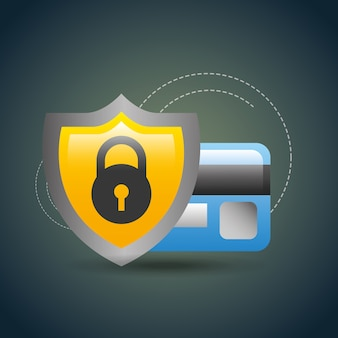 Cyber security shield credit card payment online