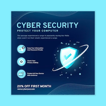 Cyber security squared flyer