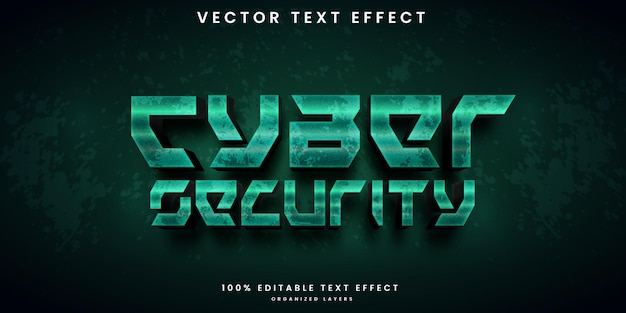 Cyber security style editable text effect