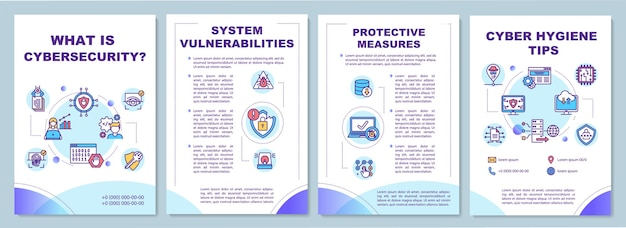 Cyber security tips brochure template