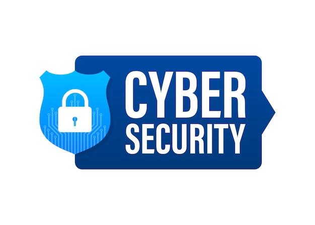 Векторный логотип кибербезопасности с щитом и галочкой. концепция защитного щита. интернет-безопасность. векторная иллюстрация.