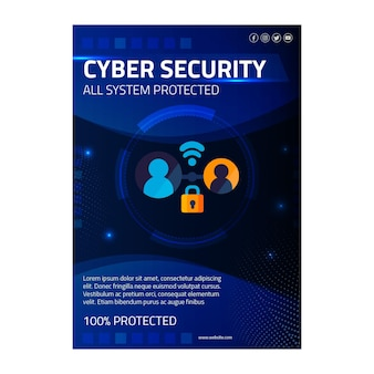 Cyber security vertical flyer