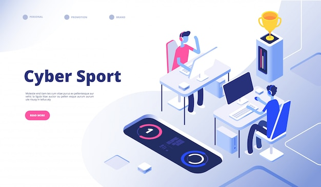 サイバースポーツ。ゲーマートーナメントストリームesportsオンラインビデオゲームとコンピューターコンソールゲームのコンセプト
