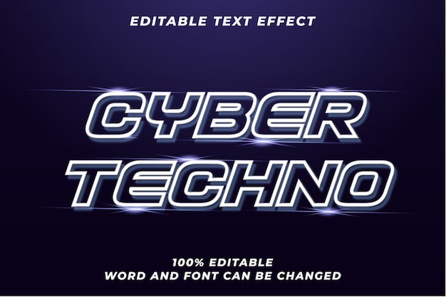 Cyber techno text style effect
