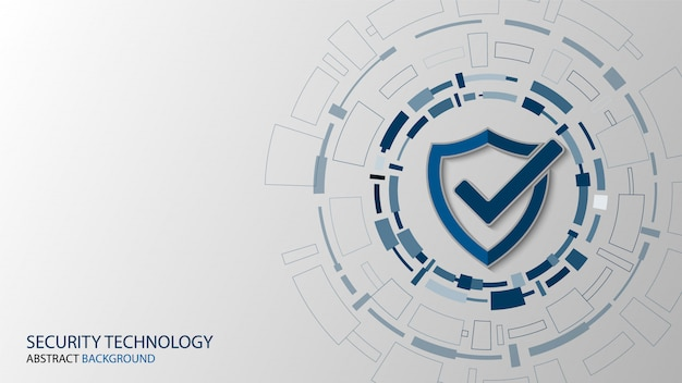 Cyber technology security, network protection background design