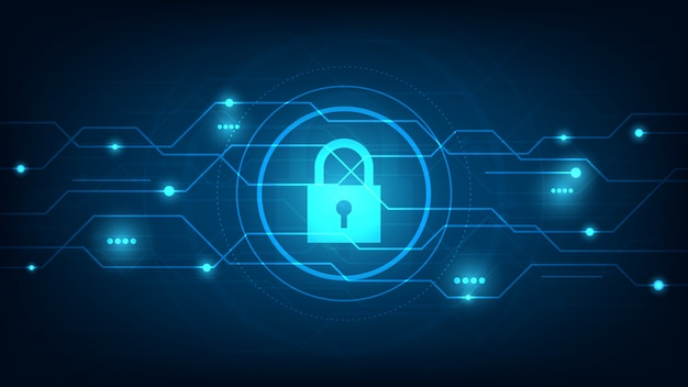 Cyber technology security, network protection background