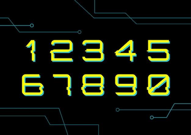 Набор цифровых номеров cyber technology