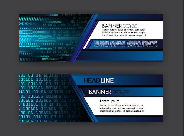 사이버 텍스트 상자 템플릿 배너 인포 그래픽
