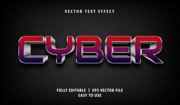 Cyber text effect, editable text style