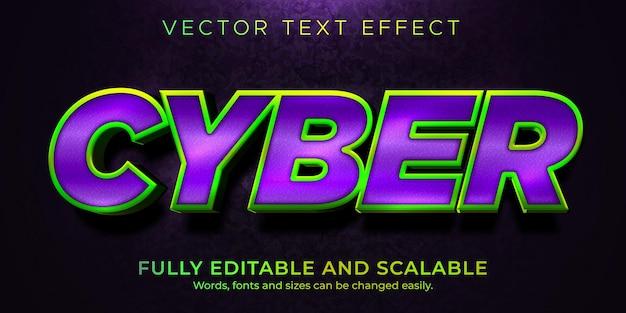 Кибер-текстовый эффект