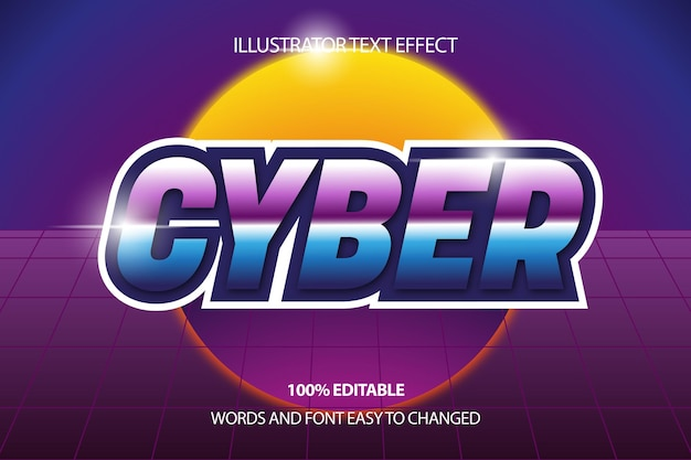 Cyber text effect