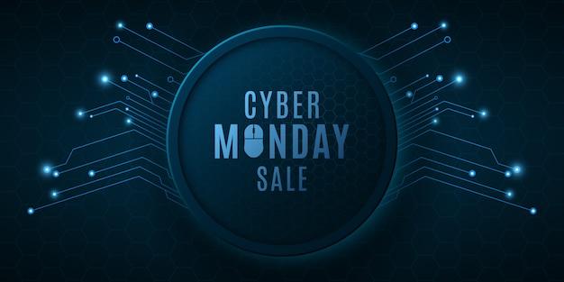 Футуристический баннер для продажи cyber понедельник.