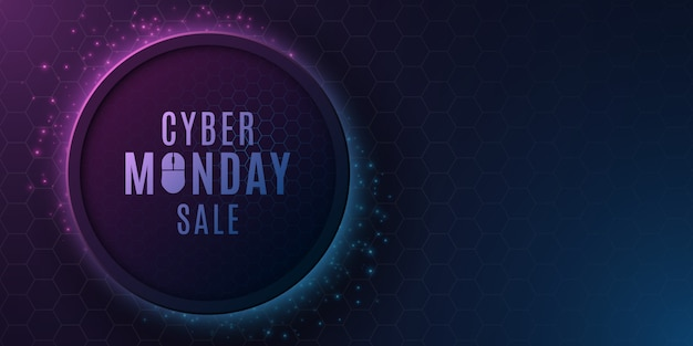 Футуристический современный баннер для продажи cyber понедельник.