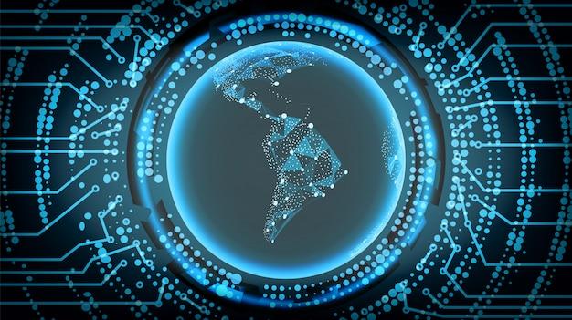 Концепция будущей технологии cyber