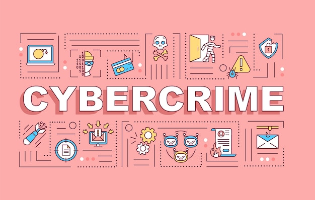 Cybercrime word concepts banner