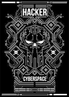 サイバーパンクの未来的なポスター。レトロな未来的なポスターテンプレート。技術の抽象的なポスターテンプレート。