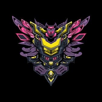 Cyberpunk mecha max illustration