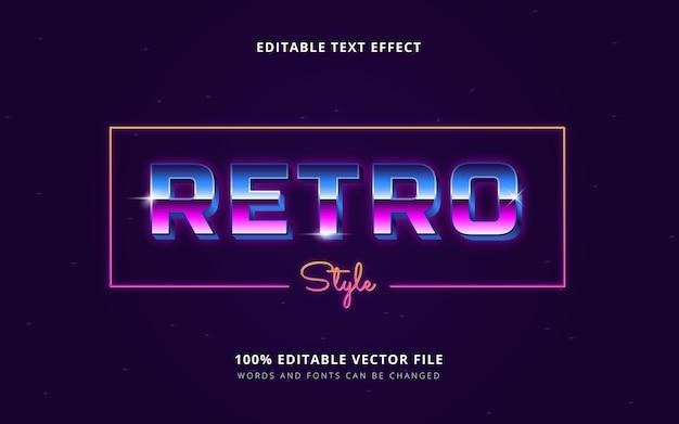 Cyberpunk 생생한 텍스트 스타일 편집 가능한 단어 및 글꼴