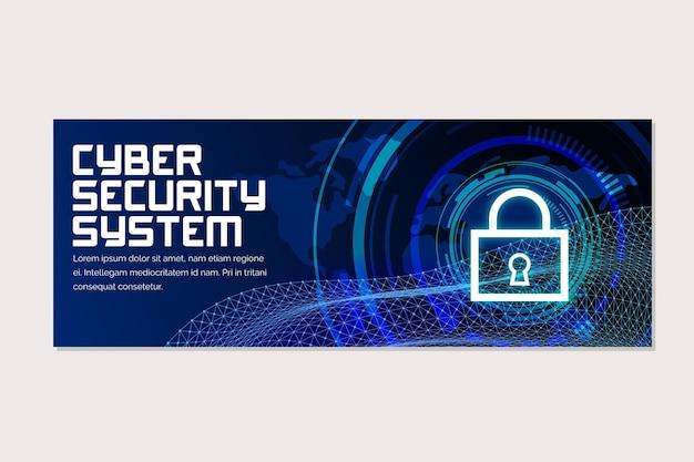 Cybersecurity horizontal banner