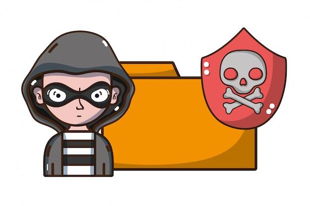 Cybersecurity threat cartoons