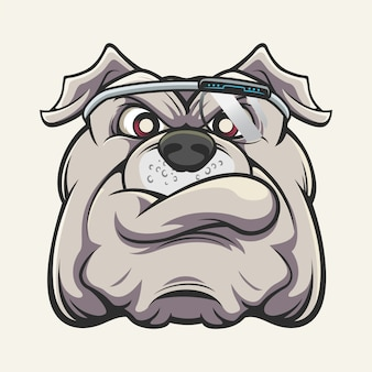 Cyborg bulldog head