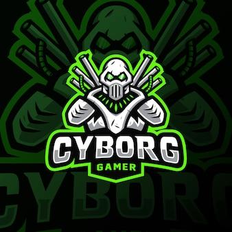 Cybortg талисман логотип киберспорт игровая иллюстрация