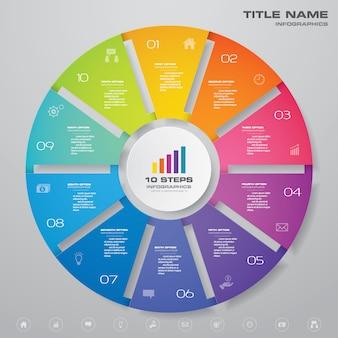 サイクルグラフインフォグラフィック要素
