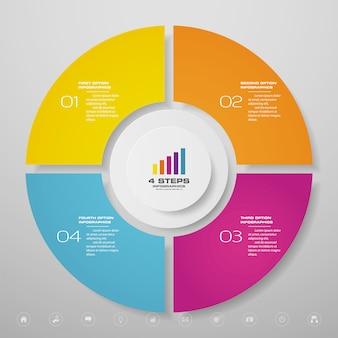 データプレゼンテーションのサイクルグラフインフォグラフィック