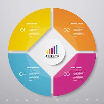 Инфографика диаграммы цикла для представления данных
