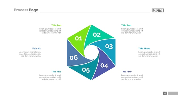 Cycle diagram with six elements template