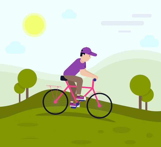 Cycle flat design