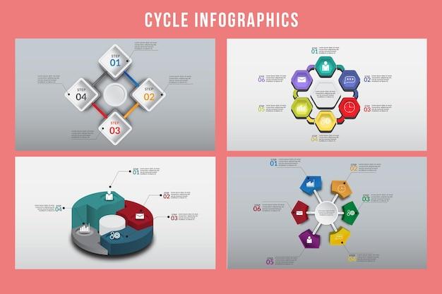 Цикл инфографики дизайн