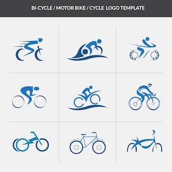 Cycle motorcycle logo template