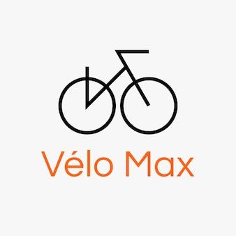 Modello di logo di sport in bicicletta, illustrazione di biciclette in un vettore di design moderno
