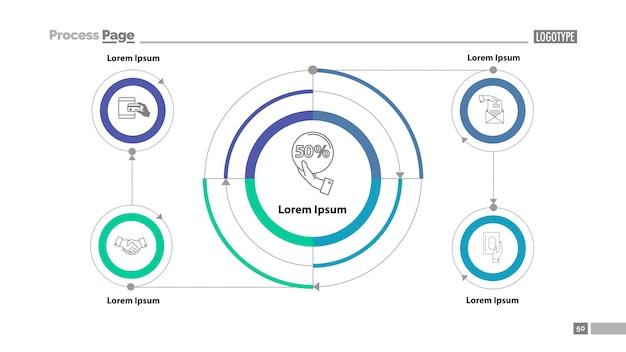 Шаблон слайдов с циклической блок-схемой