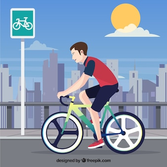Cycling background for the city