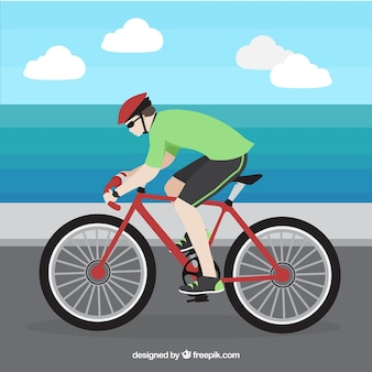 Cycling background in flat design